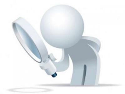 Imagem  mostra arte referente a pessoa fazendo pesquisa com lupa