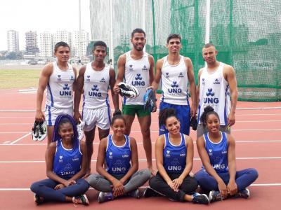 Equipe de Atletismo na segunda fase do FUPE