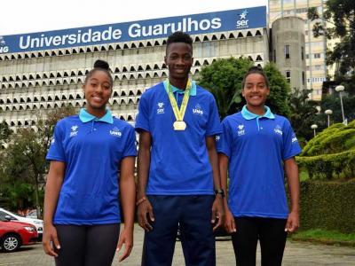 Imagem mostra atletas que participaram da competição