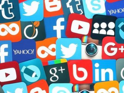 Imagem mostra logos de redes sociais