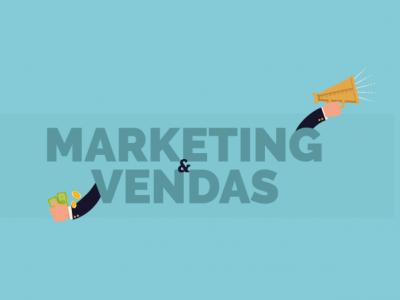 Ilustração mostra símbolos relacionados ao marketing