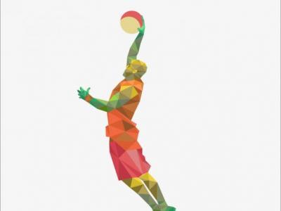 Imagem mostra homem jogando basquete