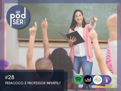 Imagem mostra arte do PodSer Educacional