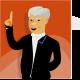 Imagem mostra desenho de político